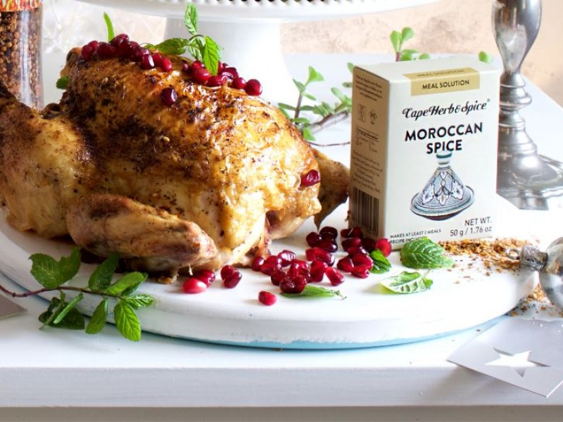 CHRISTMAS MAIN 2 OF 3: MOROCCAN - SPICED ROAST CHICKEN