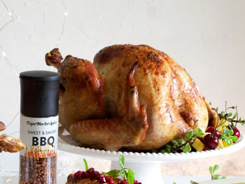 CHRISTMAS MAIN 3 OF 3: SWEET & SMOKY BBQ TURKEY WITH PINEAPPLE, CHERRY & SPEKBOOM SALSA