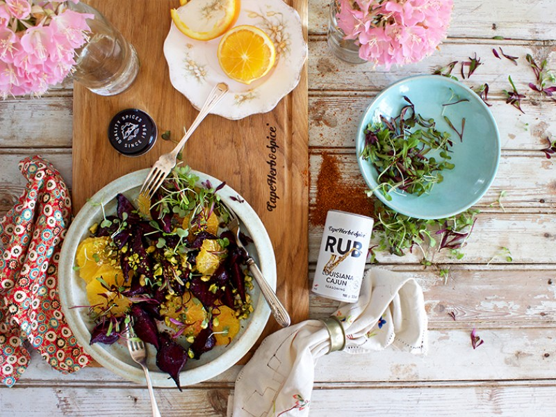 BBQ ROASTED BEETROOT, ORANGE & PISTACHIO SALAD