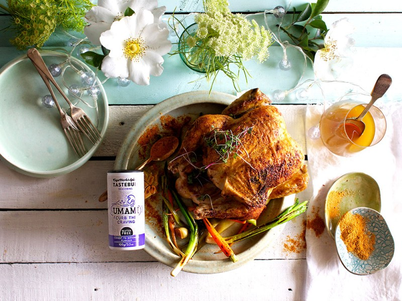 SELF-SAUCING UMAMI ROAST CHICKEN