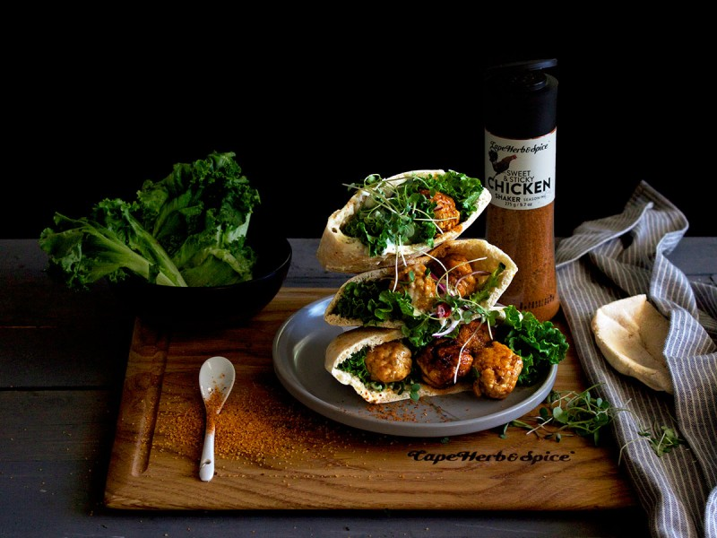 SWEET & STICKY CHICKEN BALL PITA POCKETS