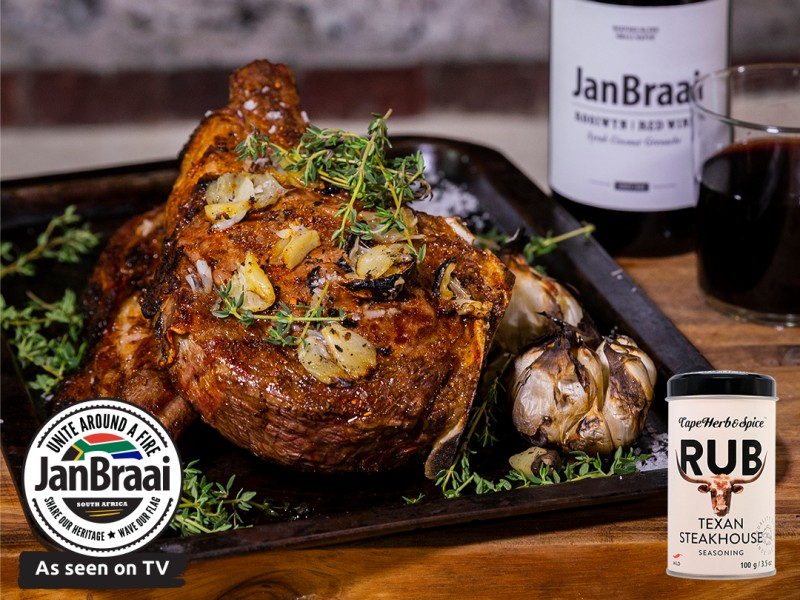 PRIME RIB STEAK WITH BRAAIED GARLIC