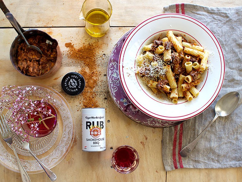 SMOKEHOUSE BBQ RAGU WITH RIGATONI