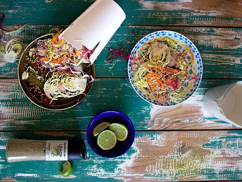 BRAAI DAY #5: CABBAGE, SPROUT & CARROT SLAW WITH HONEY-LIME DRESSING
