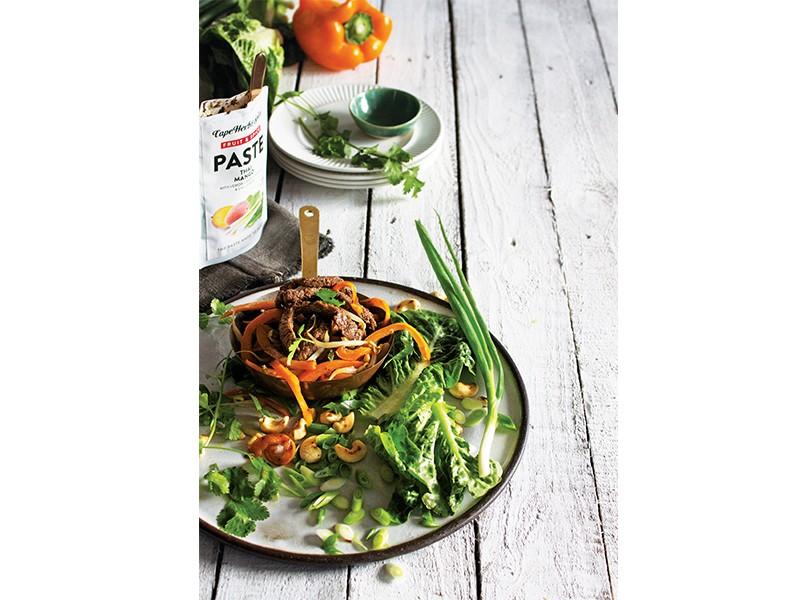 Beefy Thai Mango Lettuce Wraps