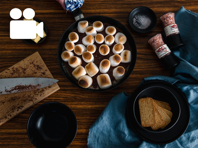 DECADENT SALTED SKILLET SMORES