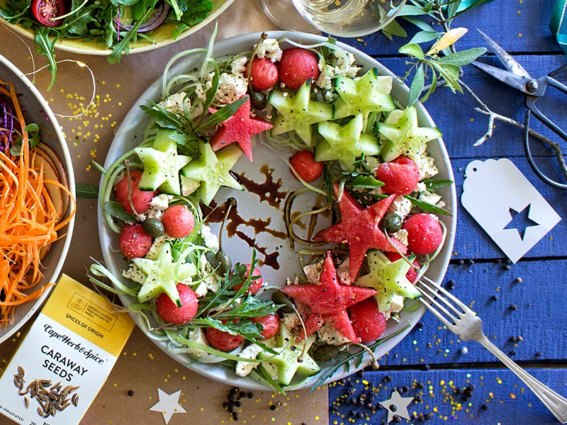 CHRISTMAS SALAD 3 - WATERMELON, CUCUMBER AND FETA SALAD