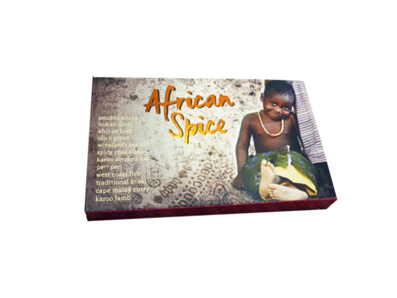 AFRICAN SPICES SLIDE BOX